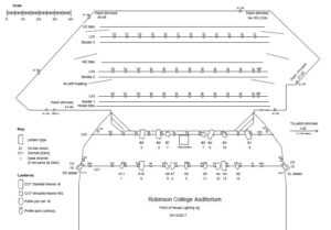 Lighting and Stage Scale Drawing
